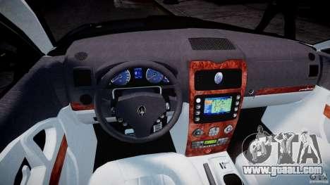 Maserati Quattroporte V for GTA 4 back view
