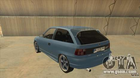 Opel Astra F Tuning for GTA San Andreas back left view