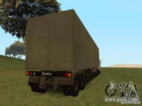 Nefaz 93344 trailer for GTA San Andreas back view
