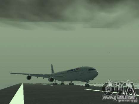 Airbus A340-300 Air France for GTA San Andreas left view