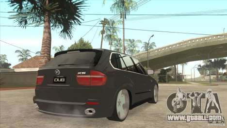 BMW X5 dubstore for GTA San Andreas right view