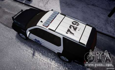 Cadillac Escalade Police V2.0 Final for GTA 4 back view