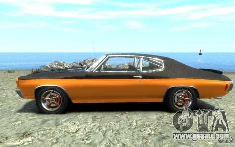Chevrolet Chevelle SS 1970 for GTA 4 left view
