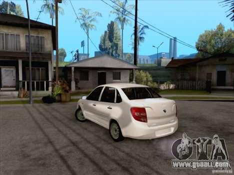 LADA Grant stock for GTA San Andreas back left view