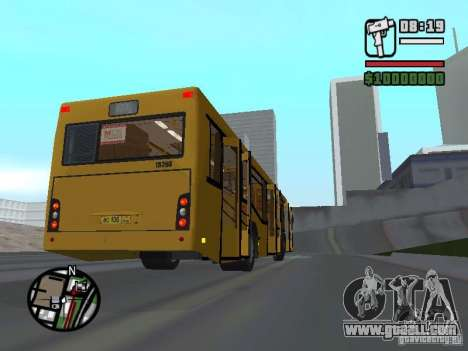 MAZ 103.465 for GTA San Andreas inner view