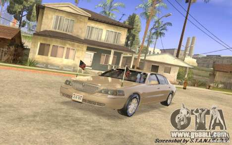 Lincoln Towncar Secret Service for GTA San Andreas