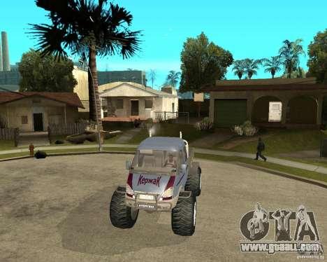 GAS KeržaK (Swamp Buggy) for GTA San Andreas back view