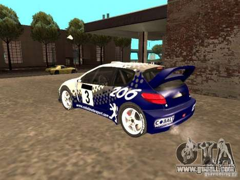 Peugeot 206 WRC from Richard Burns Rally for GTA San Andreas left view