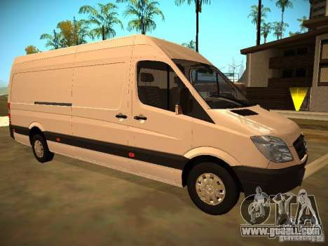 Mercedes Benz Sprinter 311 CDi for GTA San Andreas back view