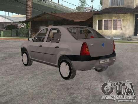 Dacia Logan 1.6 for GTA San Andreas right view
