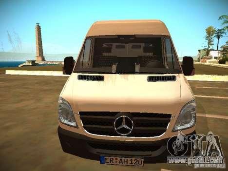 Mercedes Benz Sprinter 311 CDi for GTA San Andreas right view