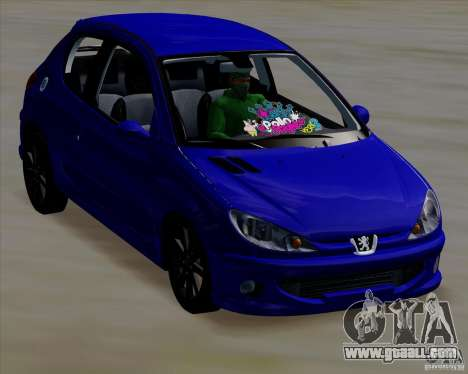 Peugeot 206 pollo style for GTA San Andreas right view