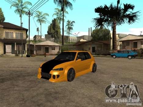 Peugeot 106 Tuning for GTA San Andreas