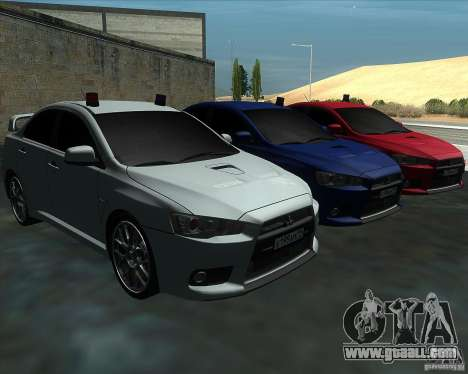 Mitsubishi Lancer Evolution X MR1 v2.0 for GTA San Andreas back view