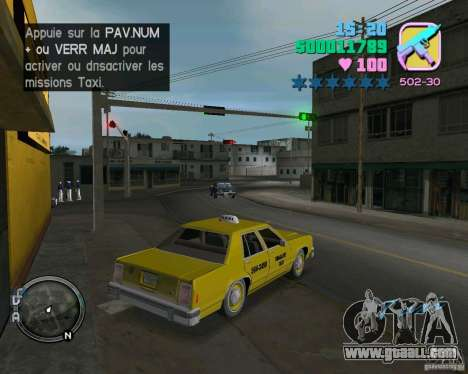 Ford Crown Victoria LTD 1985 Taxi for GTA Vice City back view
