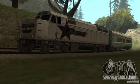 The car of the Russian railways 2 for GTA San Andreas right view