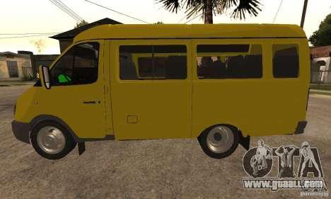 Gazelle 32213 Novosibirsk minibus for GTA San Andreas right view