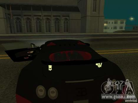 Bugatti Veyron Super Sport for GTA San Andreas inner view