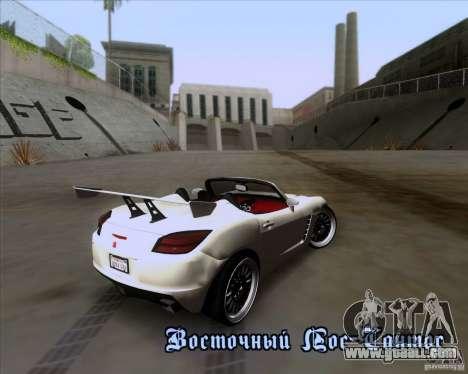 Saturn Sky Roadster for GTA San Andreas bottom view