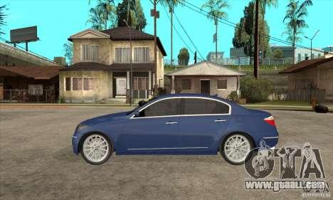 Hyundai Genesis for GTA San Andreas back view