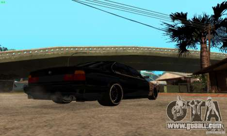 BMW 525 for GTA San Andreas back left view