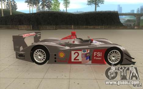 Audi R10 LeMans - Stock for GTA San Andreas inner view