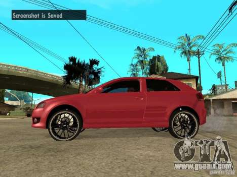 Audi S3 2006 Juiced 2 for GTA San Andreas left view
