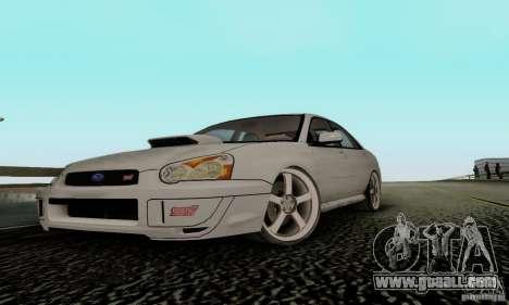 Subaru Impreza WRX STi TUNEABLE for GTA San Andreas