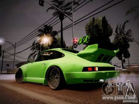 Porsche 911 Turbo RWB Pandora One for GTA San Andreas back left view