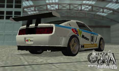 Ford Mustang GT-R for GTA San Andreas inner view