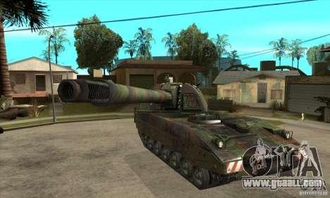 Panzerhaubitze 2000 for GTA San Andreas back view