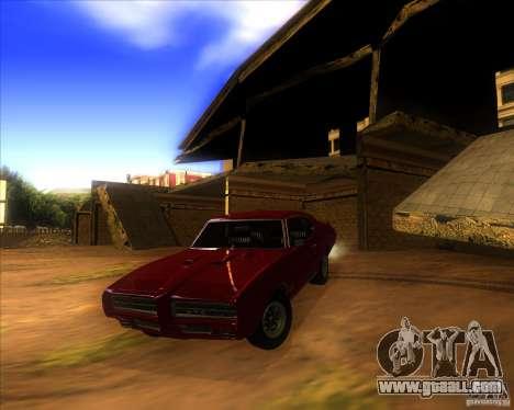 Pontiac GTO 1969 for GTA San Andreas upper view