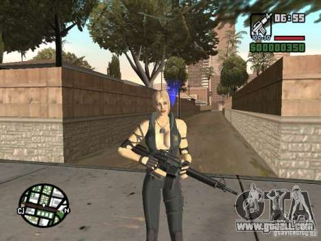Sonya from Mortal Kombat 9 for GTA San Andreas