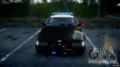 Ford Crown Victoria SFPD K9 Unit [ELS] for GTA 4 bottom view
