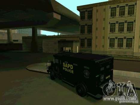 Stokade SAPD SWAT Van for GTA San Andreas back left view