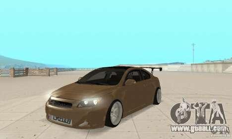 Toyota Scion tC Edited for GTA San Andreas