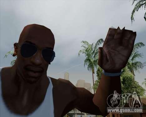 Blue glasses Aviator for GTA San Andreas third screenshot