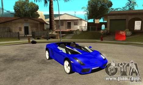 Lamborghini Concept S for GTA San Andreas side view