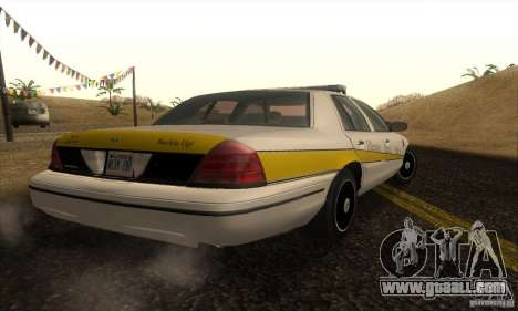Ford Crown Victoria Illinois Police for GTA San Andreas left view