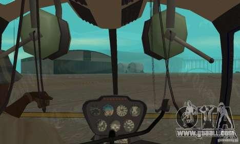 Robinson R44 Raven II NC 1.0 Skin 3 for GTA San Andreas inner view