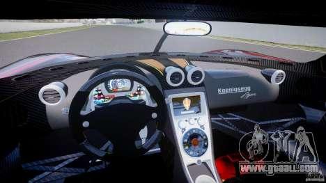 Koenigsegg Agera v1.0 [EPM] for GTA 4 back view