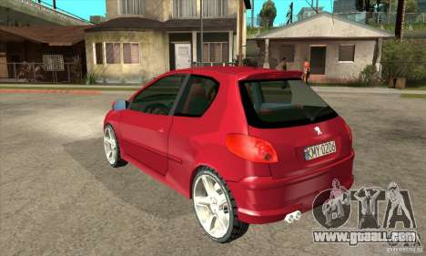 Peugeot 206 for GTA San Andreas back left view