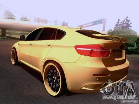BMW X6M Hamann for GTA San Andreas interior