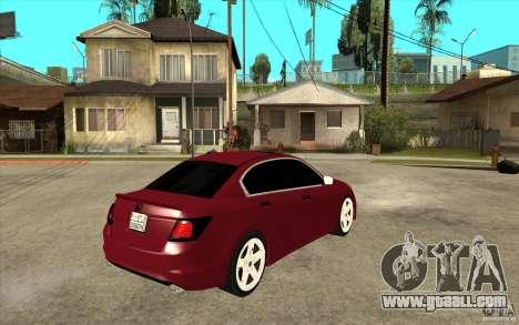 Honda Accord 2008 v2 for GTA San Andreas right view
