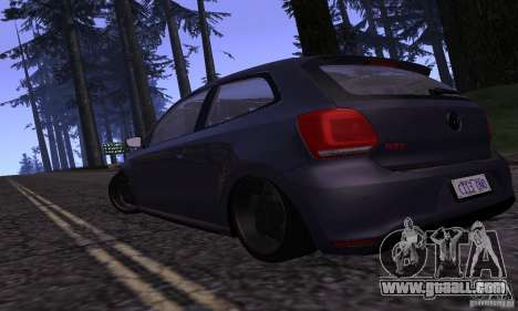 Volkswagen Polo GTI Stanced for GTA San Andreas back left view