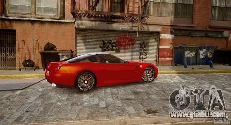 Ferrari 599 GTB for GTA 4 back left view