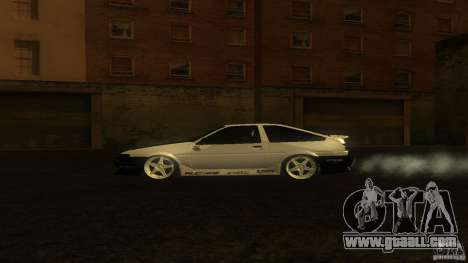 Toyota AE86 Trueno Touge Drift for GTA San Andreas left view