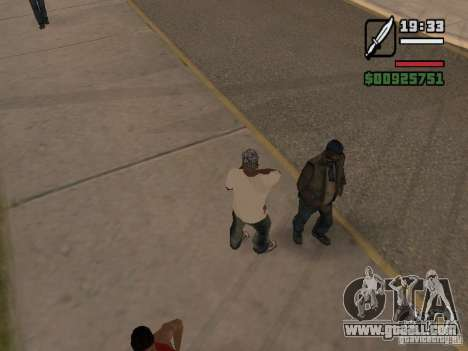 Give the homeless a little trivia for GTA San Andreas second screenshot