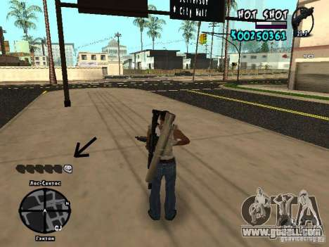 HUD by Hot Shot for GTA San Andreas third screenshot