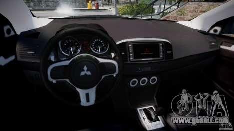 Mitsubishi Lancer Evolution X for GTA 4 back view